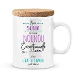 Mug nounou à personnaliser avec le prénom de votre enfant - Cadeau pour nounou personnalisé - cadeau nounou pour la ...