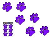 PETITS IMPRIMÉS DE PAW VIOLET Animal Chat Chien Pack Autocollants de voiture Stickers - ST00002PL_SML - JAS Stickers