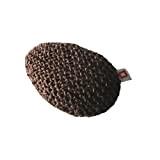 Repose-poignet ergonomique en laine et mousse coloris chocolat