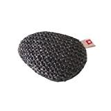 Repose-poignet ergonomique en laine et mousse coloris gris foncé