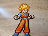 Sprite Goku - Dragon Ball - Hama BEads - Pixel Art