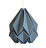 Suspension origami Hanahi gris platine fait main