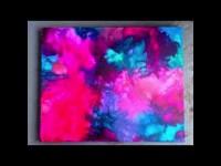 DIY: Art Abstrait, Crayon & Sèche Cheveux.