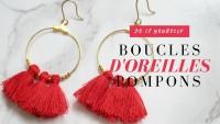 DIY - Boucles d'oreille pompons