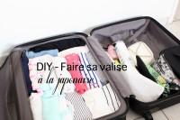 DIY - Faire sa valise à la japonaise