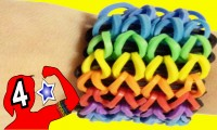 DIY - Bracelets Quadruple Rainbow Loom