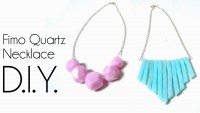 DIY - Colliers avec de la fimo quartz -